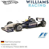 AUTO F1 WILLIAMS FW23 2001 1/18 R. SCHUMACHER HOT WHEELS